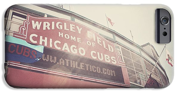 Wrigley Field iPhone Cases - Wrigley Field iPhone Case by Jessie Gould