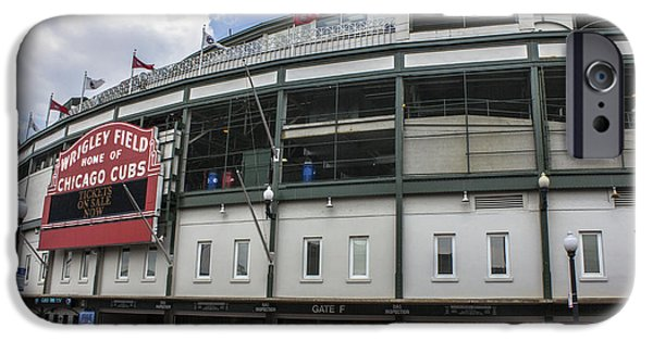 Wrigley Field iPhone Cases - Wrigley Field  iPhone Case by John McGraw