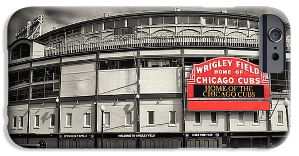 Chicago Cubs iPhone Cases - Wrigley Field iPhone Case by John Ullrick