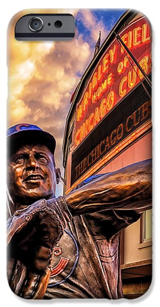 Wrigley iPhone Cases - Wrigley Field Legend iPhone Case by Anthony Citro