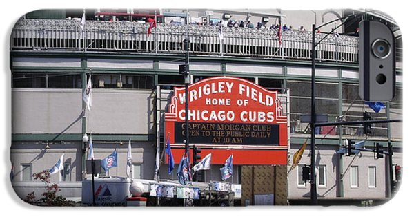 Chicago Cubs iPhone Cases - Wrigley Field iPhone Case by Mike Niday