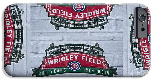 Wrigley Field iPhone Cases - Wrigley Field - One Hundred Years Old iPhone Case by David Bearden
