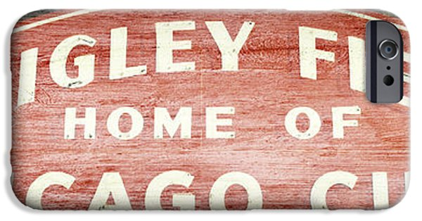 Baseball Stadiums iPhone Cases - Wrigley Field Sign - No.2 iPhone Case by Stephen Stookey