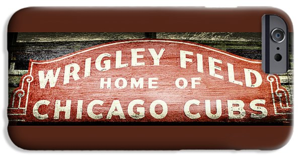 Chicago Cubs iPhone Cases - Wrigley Field Sign - No.2 iPhone Case by Stephen Stookey