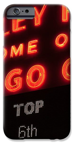Wrigley Field Sign at Night iPhone Case by Paul Velgos