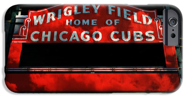 Holy Cow iPhone Cases - Wrigley Field Sign -- No.1 iPhone Case by Stephen Stookey
