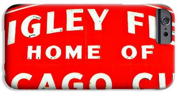 Holy Cow iPhone Cases - Wrigley Field Sign iPhone Case by Stephen Stookey