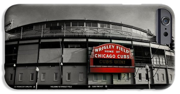 Holy Cow iPhone Cases - Wrigley Field iPhone Case by Stephen Stookey