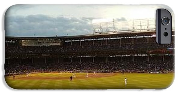 Chicago Cubs iPhone Cases - Wrigley Field iPhone Case by Tim Brandt