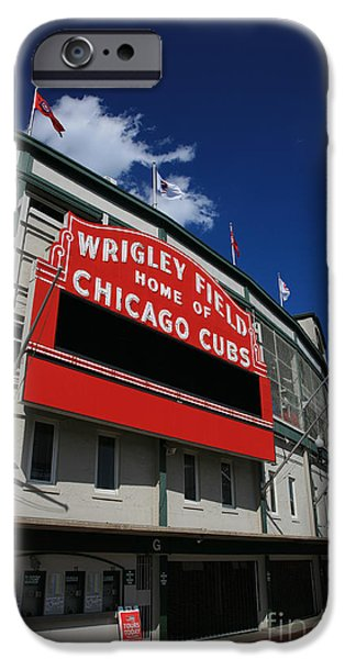 Wrigley iPhone Cases - Wrigley Field iPhone Case by Timothy Johnson