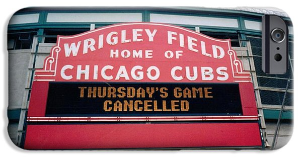 Chicago Cubs iPhone Cases - Wrigley Field Weeps for America iPhone Case by Sheri Keith