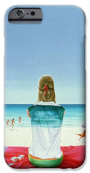 Beach Towel iPhone Cases - Wrigley Gum Girl Ii iPhone Case by Lincoln Seligman