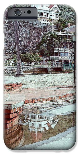 Wrigley Digital Art iPhone Cases - Wrigley Mansion Reflection iPhone Case by Julie Acquaviva Hayes
