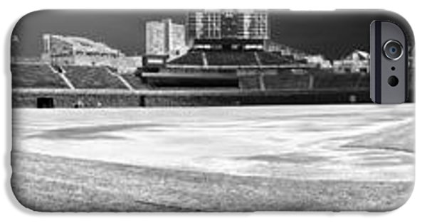 Chicago Cubs iPhone Cases - Wrigley Panorama iPhone Case by David Bearden