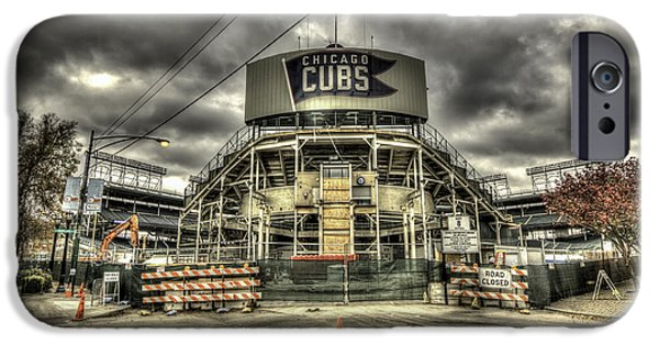 Chicago Cubs iPhone Cases - Wrigley Rehab iPhone Case by Greg Thiemeyer