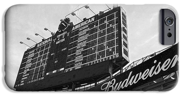 Wrigley iPhone Cases - Wrigley Scoreboard sans color iPhone Case by David Bearden