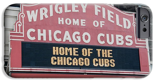 Chicago Cubs iPhone Cases - WrigleyField Sign iPhone Case by Patrick  Warneka