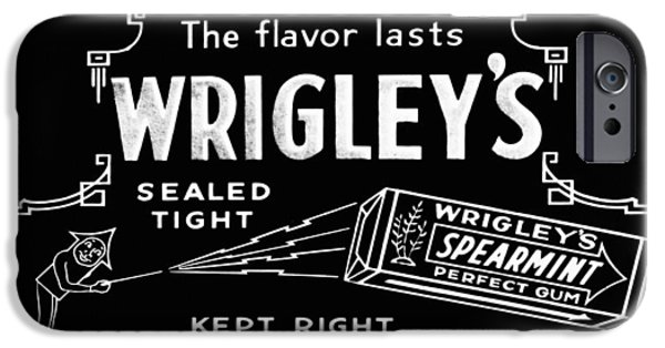 Wrigley iPhone Cases - Wrigleys Spearmint Gum iPhone Case by Digital Reproductions