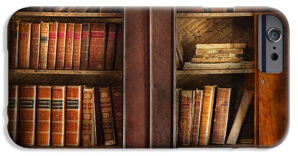 Bookcase iPhone Cases - Writer - Books - The book cabinet  iPhone Case by Mike Savad