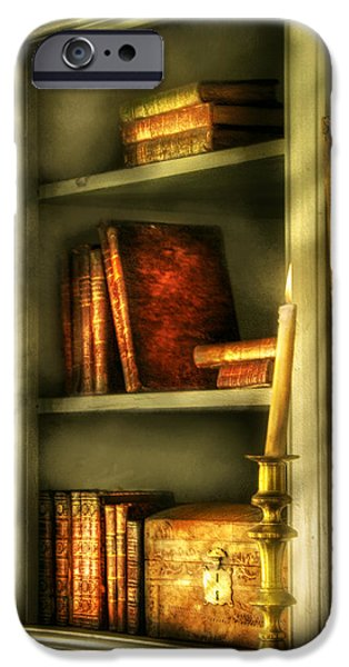 Treasure Box iPhone Cases - Writer - In the Library  iPhone Case by Mike Savad