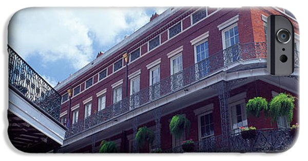Balcony iPhone Cases - Wrought Iron Balcony New Orleans La Usa iPhone Case by Panoramic Images
