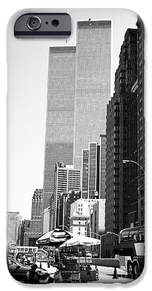 Twin Towers Nyc iPhone Cases - WTC 1990s iPhone Case by John Rizzuto