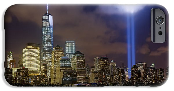 United States iPhone Cases - WTC Tribute In Lights NYC iPhone Case by Susan Candelario