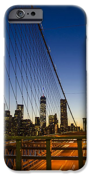 4th Of July iPhone Cases - WTC1 from Brooklyn Bridge iPhone Case by GeeLeesa Productions