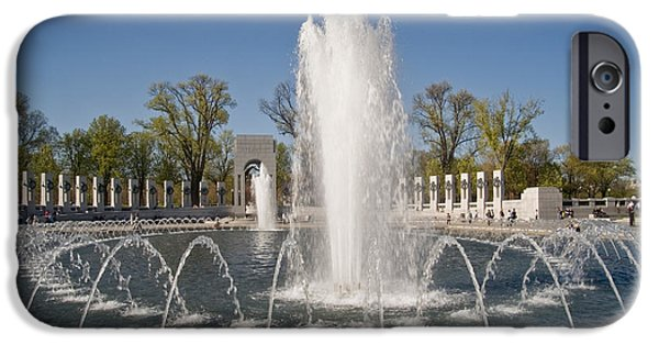 D.c. iPhone Cases - Ww Ii Memorial Plaza, Washington, D.c iPhone Case by Spencer Grant