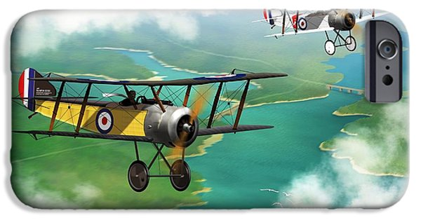World War One iPhone Cases - WW1 British Sopwith Scout iPhone Case by John Wills