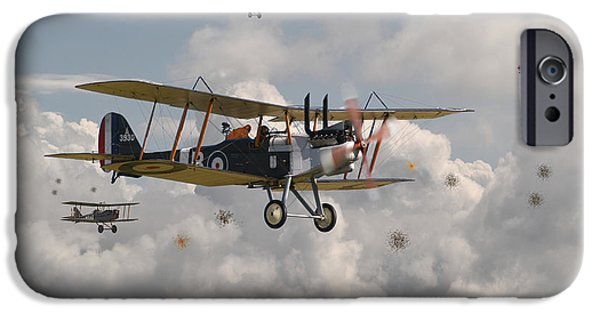 Fokker D V11 iPhone Cases - WW1 RE8 Aircraft iPhone Case by Pat Speirs