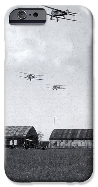 World War One iPhone Cases - Wwi, Bristol Fighters Depart, 1918 iPhone Case by Photo Researchers