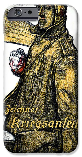 Wwi Paintings iPhone Cases - WWI German Aviation War Bond Poster iPhone Case by Historic Image
