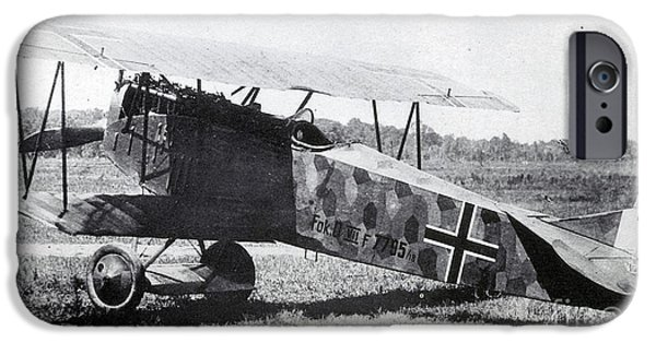 World War One iPhone Cases - Wwi, German Fokker D Vii Fighter Plane iPhone Case by Photo Researchers