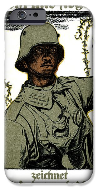 Wwi iPhone Cases - WWI German War Bond Poster iPhone Case by Historic Image