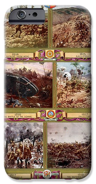 Ww1 iPhone Cases - Wwi, Important Battles Of The British iPhone Case by Photo Researchers