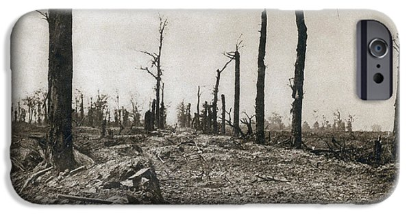 Wwi iPhone Cases - Wwi, Ruins Of Somme, 1916 iPhone Case by Photo Researchers