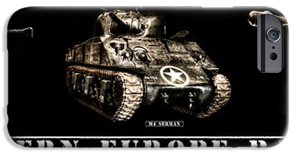 Fury iPhone Cases - WWII Western Europe Battlefield Tanks iPhone Case by Weston Westmoreland