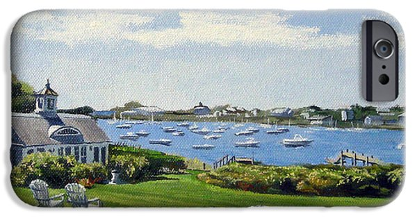 Chatham Paintings iPhone Cases - Wychmere Harbor Harwich Port Massachusetts Cape Cod Massachusetts iPhone Case by Christine Hopkins
