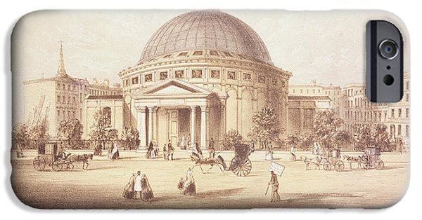 Theatre iPhone Cases - Wylds Monster Globe, C.1851 Litho iPhone Case by English School
