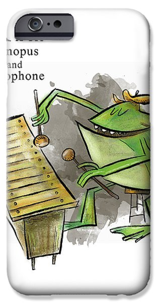 Animal Alphabet iPhone Cases - X is for Xenopus iPhone Case by Sean Hagan