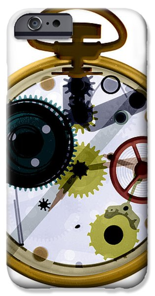 X-ray Of A Pocket Watch iPhone Case by Bert Myers