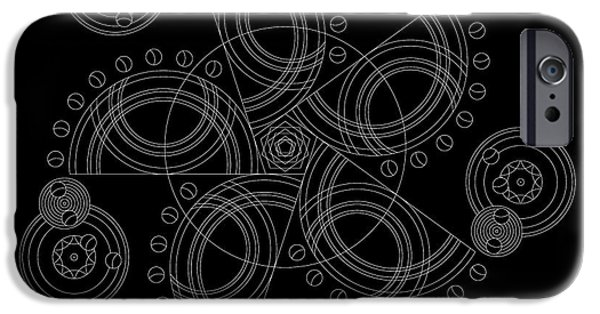 Hieroglyph iPhone Cases - X to the Sixth Power Inverse iPhone Case by DB Artist