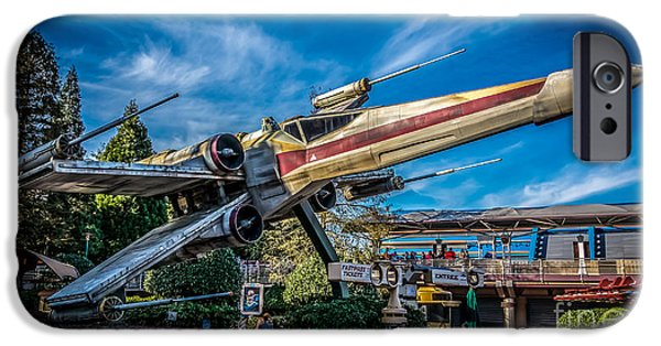 Xwing iPhone Cases - X-Wing Starfighter at Disneyland Paris iPhone Case by Rui Marques