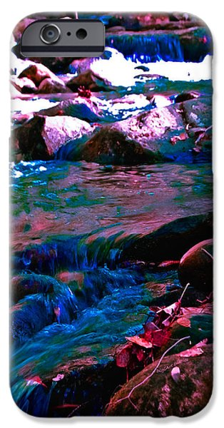 Turquois Water iPhone Cases - Xanadu iPhone Case by DigiArt Diaries by Vicky B Fuller