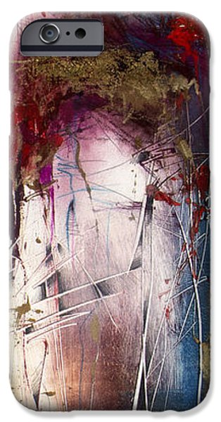 Abstract Expressionist iPhone Cases - Xela 6 iPhone Case by Jeannette Debonne