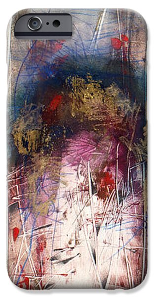 Abstract Expressionist iPhone Cases - Xela iPhone Case by Jeannette Debonne