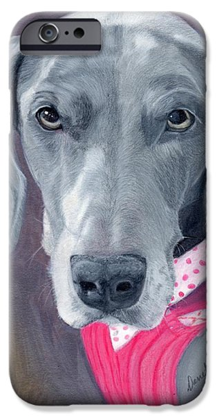 Dogs iPhone Cases - Xiola iPhone Case by Danette Malerich