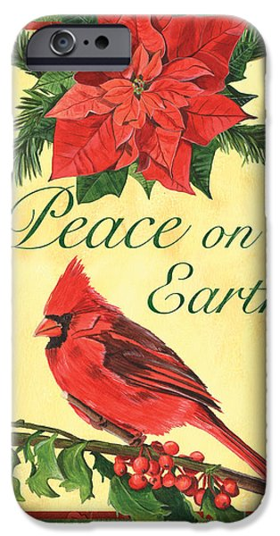 Earth Paintings iPhone Cases - Xmas around the World 1 iPhone Case by Debbie DeWitt
