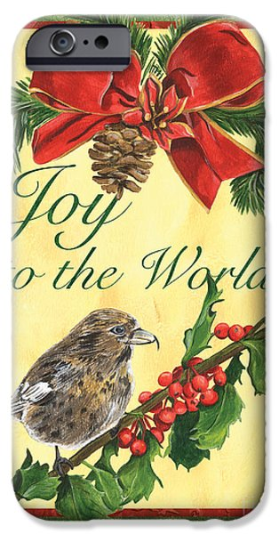 Aviary iPhone Cases - Xmas around the World 2 iPhone Case by Debbie DeWitt